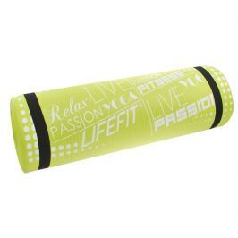 Lifefit Podložka  YOGA MAT EXKLUZIV PLUS, 180x60x1,5cm, světle zelená