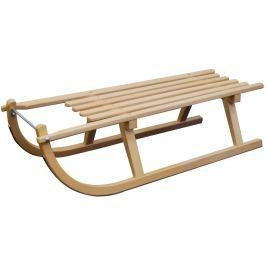 Sulov Dřevěné saně  DAVOS, sedák dřevo, 100cm