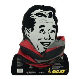 Sulov Sportovní šátek s flísem , černo-červený