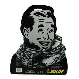 Sulov Sportovní šátek s flísem, černo-bílý