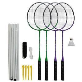 Rulyt Badmintonový set 4x raketa, 1x míček, síť, vak