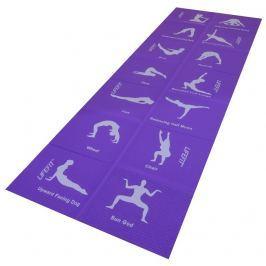 Lifefit Podložka  YOGA MAT FOLD, 173x61x0,4cm, skládací, fialová