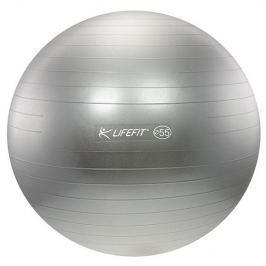 Lifefit Gymnastický míč  ANTI-BURST 55 cm, stříbrný