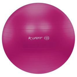 Lifefit Gymnastický míč  ANTI-BURST 55 cm, bordó