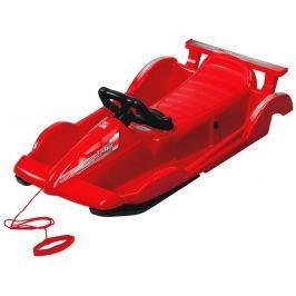 AlpenGaudi Bob plastový AlpenRace s volantem, červený