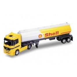 Welly - Tahač s návěsem Mercedes-Benz Actros Oil Tanker Shell model 1:32