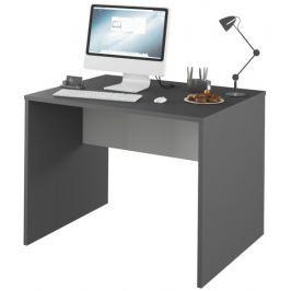 Tempo Kondela PC stůl, grafit / bílá, Rioma TYP 12