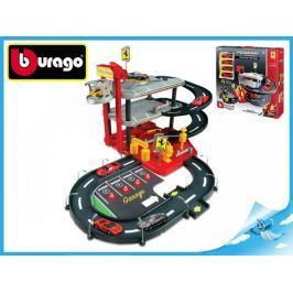 Bburago Race & Play Ferrari - Autodráha s parkovištěm