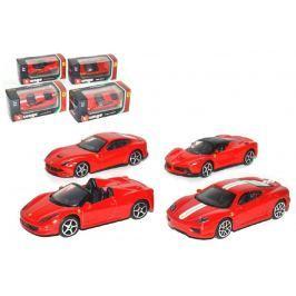 Wiky Auto Bburago 7cm kov 1:64 Ferrari Race & Play asst v krabičce 24ks v boxu