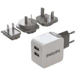 Philips Nabíječka do sítě  DLP2220, 2x USB, 3,1A - černá