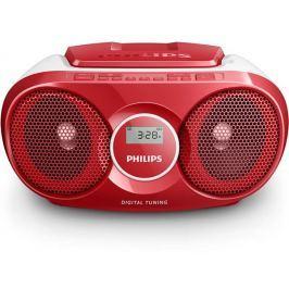 Philips Radiopřijímač s CD  AZ215R, červený