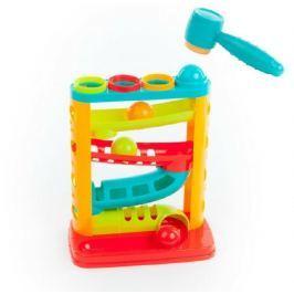 Teddies Kuličková dráha se zatloukačkou plast 20,5x30x14,5cm v krabici 12m+