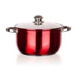 ACRA BANQUET Hrnec nerezový MAESTRO Red 24 cm, 5,7 l, s poklicí