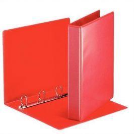 ESSELTE Kroužkový pořadač, s průhlednými kapsami, červená, 4 D kroužky, 50 mm, A4, PP, E