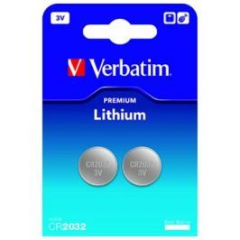 Verbatim Baterie lithiová, CR2032, 3V, , blistr, 2-pack, 49936, cena za 1 ks bate