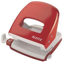 LEITZ Celokovová stolní děrovačka NeXXt 5008 Wow, červená, 30 listů,