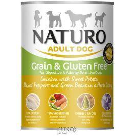 Naturo Dog Chicken-Sweet Potato 390g-konzerva