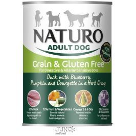 Naturo Dog Duck-Blueberries 390g-konzerva