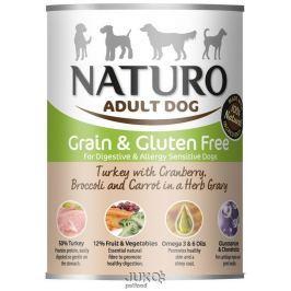 Naturo Dog Turkey-Cranberries 390g-konzerva