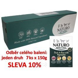 Naturo Adult Duck&Rice with Vegetables 150g-7KS-AKCE 10%-14047