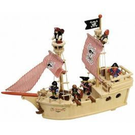 Tidlo dřevěná pirátská loď
