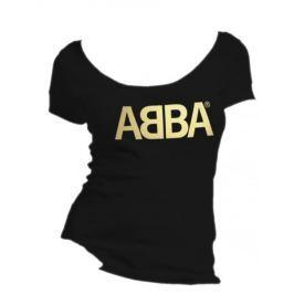 Abba - Logo Gold, dámské tričko S