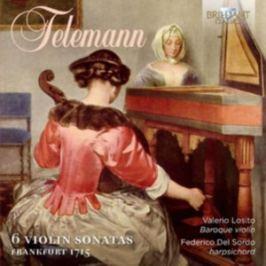CD Telemann: 6 Violin Sonatas, Frankfurt 1715  (Del Sordo)