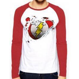 Flash - Torn Logo, pánské tričko s dlouhým rukávem  XL