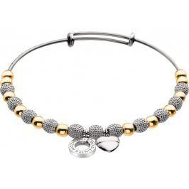 Hot Diamonds Ocelový náramek Emozioni Yellow Gold and Silver Ula DC099