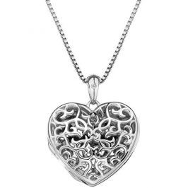 Hot Diamonds Přívěsek  Small Heart Filigree Locket DP671