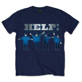 Beatles - Help! Silver Logo, pánské tričko S