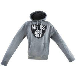 Mitchell & Ness Pánská mikina s kapucí Mitchell & Ness Team Logo NBA Brooklyn Nets, L