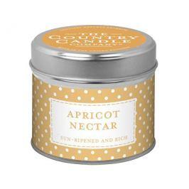 Country Candle Rustikální vonná svíčka v plechu Meruňkový nektar (Apricot Nectar) 231 g