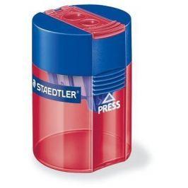 STAEDTLER Ořezávátko, na 2 tužky, se zásobníkem na odpad, různé barvy,