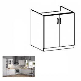 Tempo Kondela Spodní dřezová skříňka D80Z, bílá / sosna andersen, PROVANCE