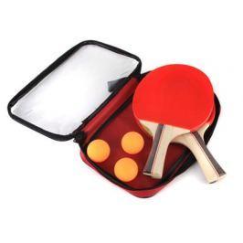 Sportwell Sada na stolní tenis, 2 pálky a 3 míčky, pouzdro