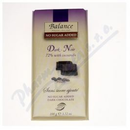 KLINGELE CHOCOLADE Balance 72% hořká čokoláda s kak.boby b.cukru 100g