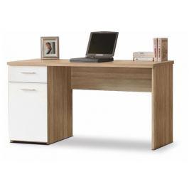 Tempo Kondela PC stůl, dub sonoma / bílý, EGON