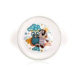 BANQUET Dětský plastový mělký talíř   234x183x24 mm, motiv: Owl