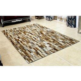 Tempo Kondela Luxusní koberec, kůže, typ patchworku, 69x140 cm, KOBEREC KOŽA typ5