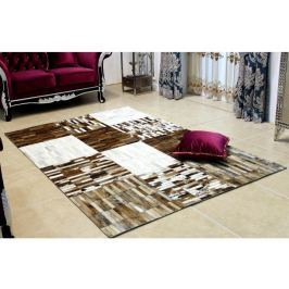 Tempo Kondela Luxusní koberec, kůže, typ patchworku, 69x140 cm, KOBEREC KOŽA typ4