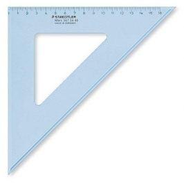 STAEDTLER Pravítko trojúhelník Mars, plastové, 45°, 25 cm, , transparentní modr