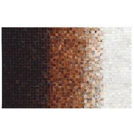 Tempo Kondela Luxusní koberec, kůže, typ patchworku, 70x140 cm, KOBEREC KŮŽE typ7