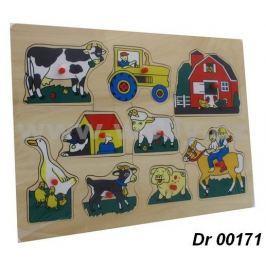 Dřevěná vkládačka- Farma