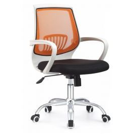 Tempo Kondela Kancelářské křeslo s černým sedákem, oranžová opěrka, LANCELOT