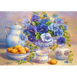 TREFL Puzzle Modrá kytice 1000 dílků