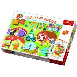 TREFL Puzzle 36 dílků Flip-flap Na farmě