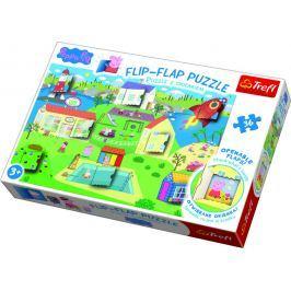 TREFL Puzzle 36 dílků Flip-flap Prasátko Pepa