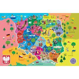 TREFL Puzzle Mapa Polska 44 dílků