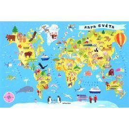 TREFL Puzzle pro děti  100 dílků - Mapa světa